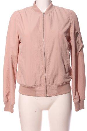 Zara Basic Bomber Jacket pink casual look
