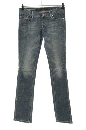 Zara Basic Boot Cut Jeans blau Casual-Look