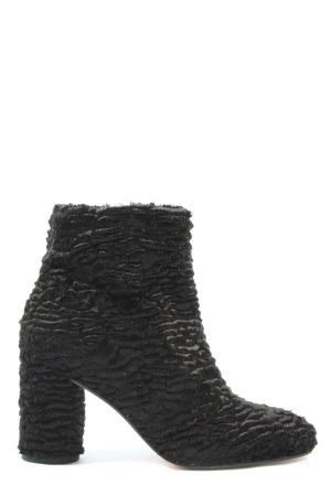 Zara Basic Booties schwarz Elegant