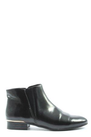 Zara Basic Booties schwarz Business-Look