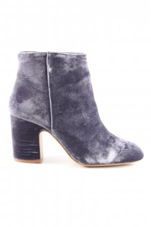 Zara Basic Booties hellgrau Business-Look