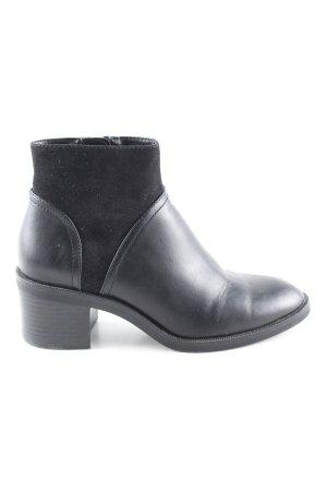 Zara Basic Botines negro look casual