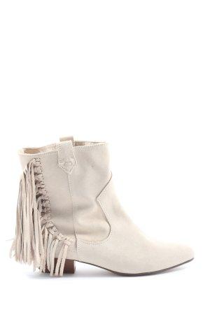 Zara Basic Botines blanco puro look casual