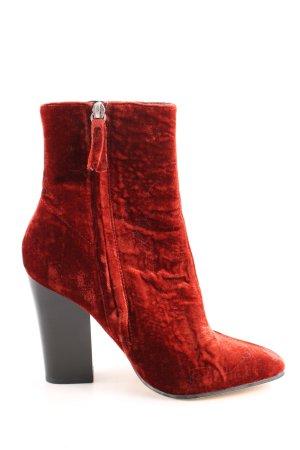Zara Basic Booties rot Casual-Look