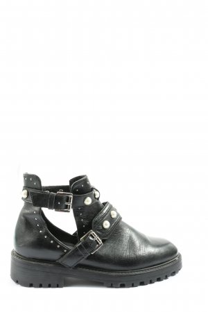 Zara Basic Booties schwarz Casual-Look
