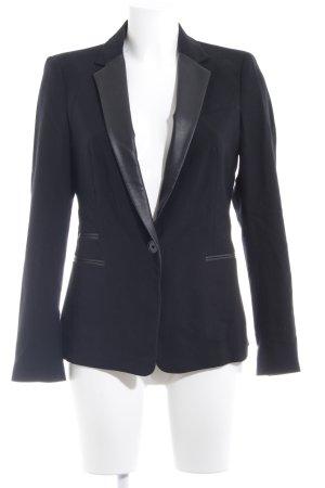 Zara Basic Blazer stile Boyfriend nero elegante