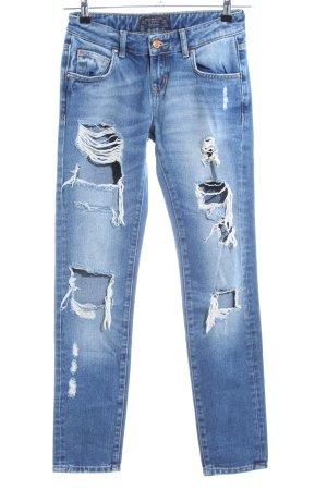 Zara Basic Boyfriend Jeans blue casual look