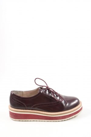 Zara Basic Wingtip Shoes multicolored casual look