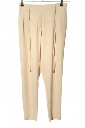Zara Basic Bundfaltenhose nude Casual-Look