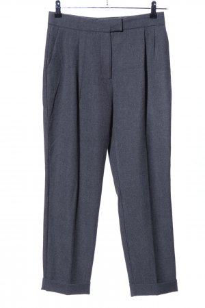 Zara Basic Bundfaltenhose hellgrau meliert Business-Look