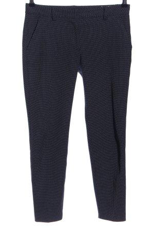 Zara Basic Bundfaltenhose schwarz-weiß Allover-Druck Business-Look
