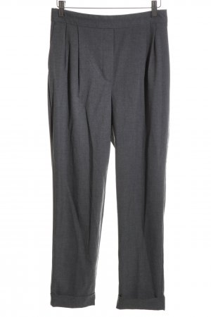 Zara Basic Bundfaltenhose hellgrau Webmuster Business-Look