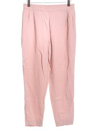 Zara Basic Bundfaltenhose pink Casual-Look