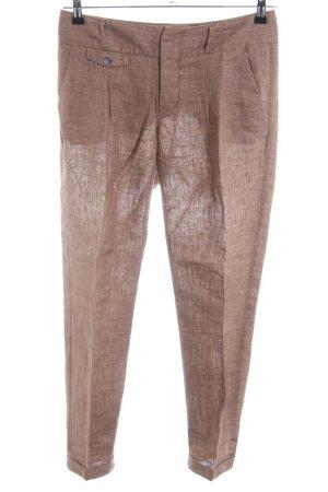 Zara Basic Bundfaltenhose braun Casual-Look