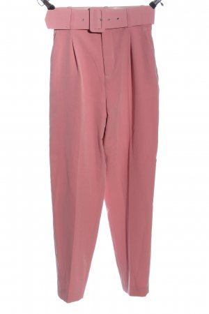 Zara Basic Bundfaltenhose pink Business-Look