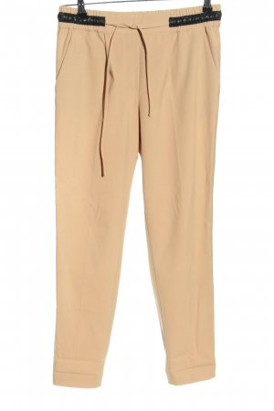 Zara Basic Bundfaltenhose creme Casual-Look
