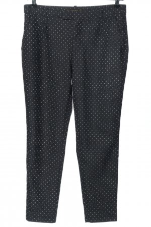 Zara Basic Bundfaltenhose schwarz-blassgelb Allover-Druck Casual-Look