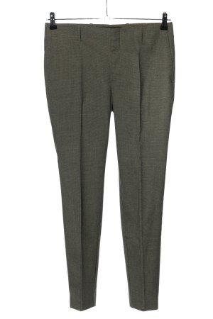 Zara Basic Pantalón de pinza caqui-negro Patrón de tejido estilo «business»