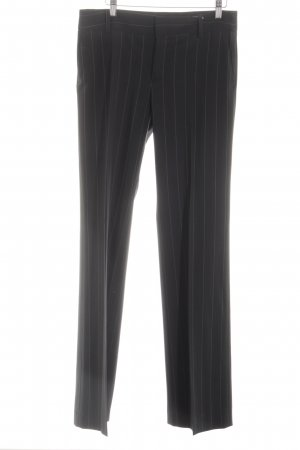 Zara Basic Bundfaltenhose schwarz Streifenmuster Business-Look