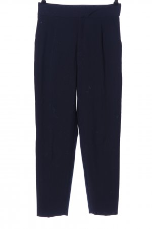 Zara Basic Bundfaltenhose blau Business-Look