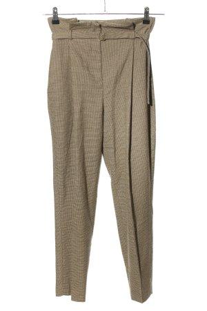 Zara Basic Pantalón de pinza estampado a cuadros look casual