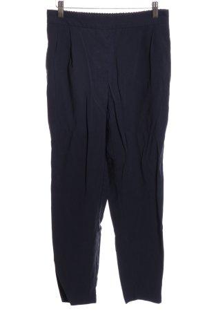 Zara Basic Bundfaltenhose blau Casual-Look