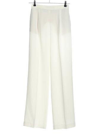 Zara Basic Bundfaltenhose weiß Business-Look