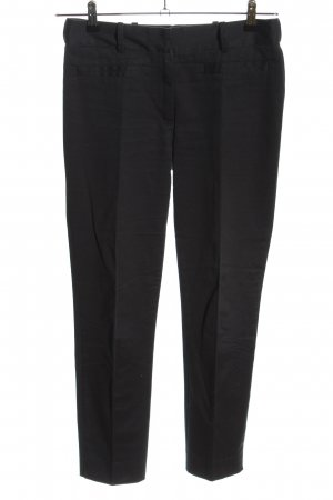 Zara Basic Bundfaltenhose schwarz Business-Look