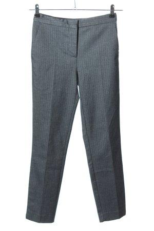 Zara Basic Bundfaltenhose hellgrau Streifenmuster Business-Look
