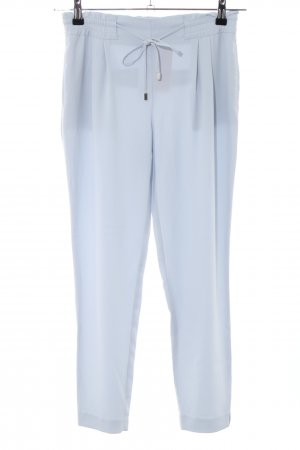 Zara Basic Bundfaltenhose blau Casual-Look