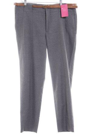 Zara Basic Bundfaltenhose grau Business-Look