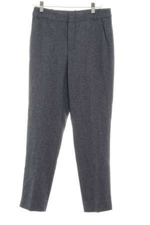 Zara Basic Bundfaltenhose graublau Business-Look