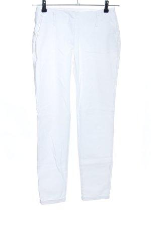 Zara Basic Pleated Trousers white casual look