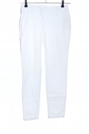 Zara Basic Pantalone a pieghe bianco stile casual