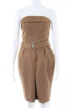 Zara Basic Bustierkleid beige Punktemuster Party-Look