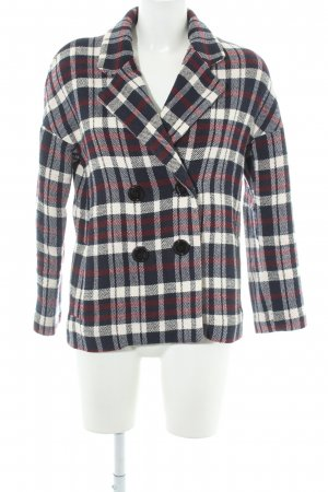 Zara Basic Pea Jacket check pattern casual look