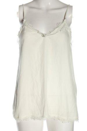 Zara Basic Camisole blanc style décontracté