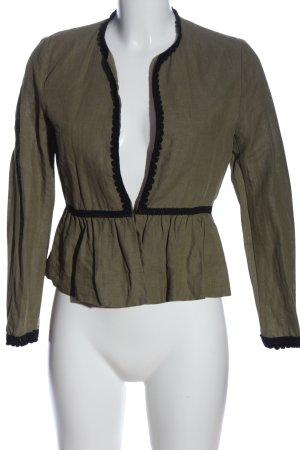Zara Basic Kardigan khaki W stylu casual