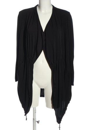 Zara Basic Kardigan czarny W stylu casual