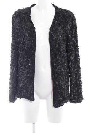 Zara Basic Cardigan schwarz abstraktes Muster Casual-Look