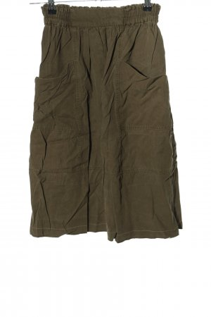 Zara Basic Cargorock khaki Casual-Look