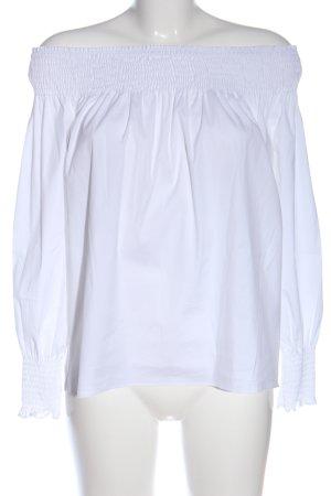 Zara Basic Blusa alla Carmen bianco stile casual