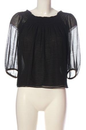 Zara Basic Carmen-Bluse schwarz Elegant