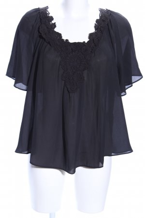 Zara Basic Blusa alla Carmen nero stile festa