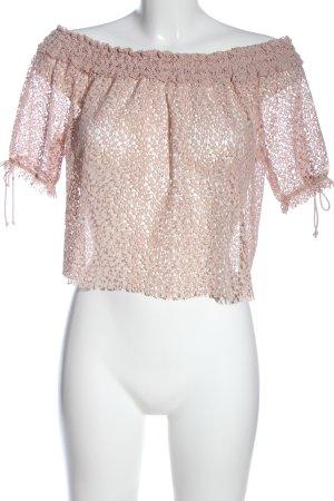Zara Basic Carmen-Bluse pink Casual-Look