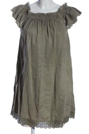 Zara Basic Carmen-Bluse khaki Casual-Look