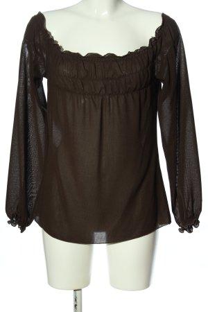 Zara Basic Carmen-Bluse braun Casual-Look