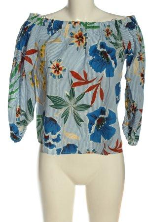 Zara Basic Bluzka typu carmen Na całej powierzchni W stylu casual