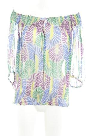 Zara Basic Carmen-Bluse mehrfarbig Casual-Look