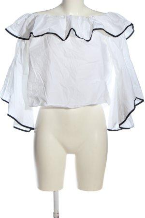 Zara Basic Carmen-Bluse weiß Casual-Look